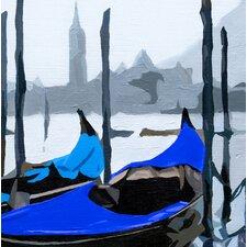 Gondoles Venise Bleue Wall Hanging