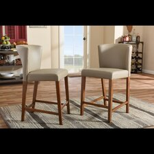 "Baxton Studio 25"" Bar Stool (Set of 2)"