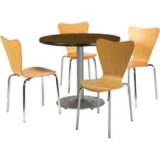 Round Cafeteria Table and Chairs Set