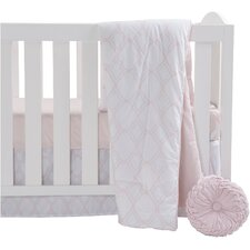 Pink 4 Piece Crib Bedding Set