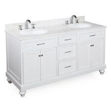 Amelia 60 Double Bathroom Vanity Set by Kitchen Bath Collection