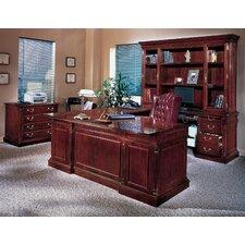 Flannagan Traditional 3-Piece U-Shape Executive Desk Office Suite