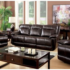 Reinhart Leather Reclining Sofa by Darby Home Co