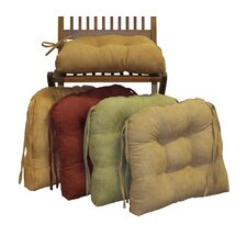 Microsuede Fabric Dining Chair Cushion (Set of 2)