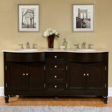 72 Double Bathroom Vanity Set by Silkroad Exclusive