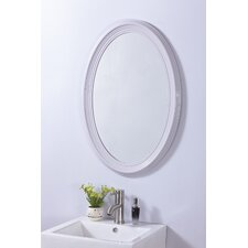Contemporary Oval PVC Frame Wall Mirror