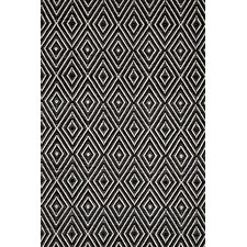 Diamond Hand Woven Black Indoor/Outdoor Area Rug