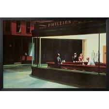 'Nighthawks Diner Scene Museum' by Edward Hopper Framed Painting Print