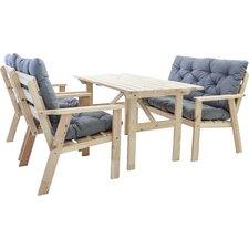 4-Sitzer Gartengarnitur Hanko mit Polster