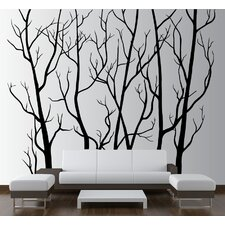 Tree Forest Branches with Birds Wall Decal