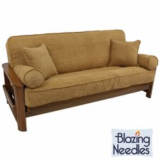 Double-corded 5 Piece Microsuede Futon Cover Set