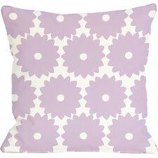 Gia Flower Print Throw Pillow