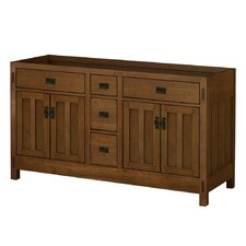 American Craftsman 60 Bathroom Vanity Base by Sagehill Designs