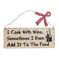 """I Cook with Wine"" Wall Décor"