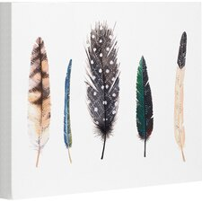 Feathers by Ana Victoria Calderon Graphic Art on Wrapped Canvas