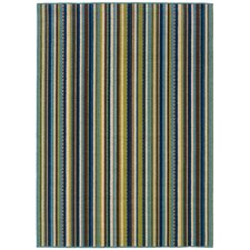 Newfield Blue/Brown Indoor/Outdoor Area Rug
