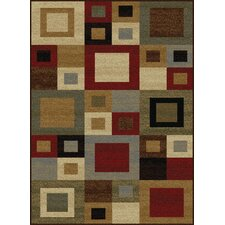 Colette Contemporary Red/Brown Area Rug