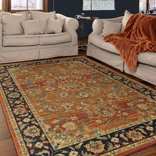 Twisted Tradition Brick/Red Area Rug