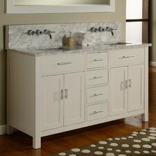 Hutton Spa 63 Double Premium Bathroom Vanity Set with Mirror by Direct Vanity Sink