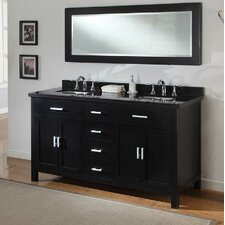Hutton Spa 63 Double Bathroom Vanity Set with Mirror by Direct Vanity Sink