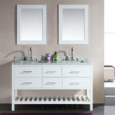 Halcomb 61 Double Bathroom Vanity Set with Mirror by Red Barrel Studio