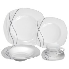 Porcelain 20 Piece Dinnerware Set, Service for 4