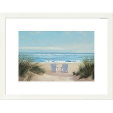 coastal among friends ii by diane romanello framed graphic art