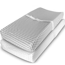 Jersey Knit Cotton Changing Pad Cover (Set of 2) by Ziggy Baby