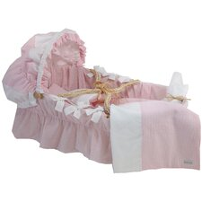 Seersucker Moses Basket Blanket
