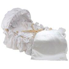 White Pique Moses Basket Bedding Set