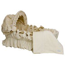Ivory Velour Cotton Moses Basket Blanket