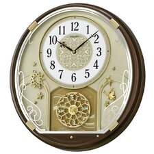 Melodies in Motion Starry Night Musical Wall Clock