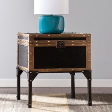 Elizabethtown Travel Trunk End Table by Three Posts