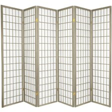 "Boyer 70"" x 84"" Pane Shoji 6 Panel Room Divider"
