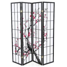 Sakina 70 x 72 4 Panel Room Divider by World Menagerie