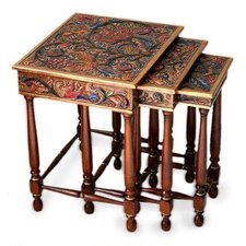 Kaiya 3 Piece Nesting Tables by World Menagerie