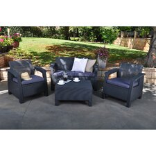 Colona 4 Piece Deep Seating Group by Varick Gallery®