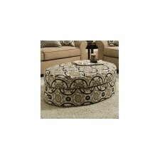 Simmons Upholstery Milligan Linen Oval Ottoman by Darby Home Co