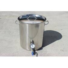 Stainless Steel 60 Qt. Home Brew Kettle with 2 Welded on Couplers
