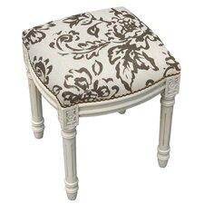 Amalda Toile Linen Upholstered Vanity Stool with Nailhead