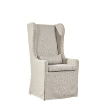 Highback Linen Host Wing back Chair by Furniture Classics LTD