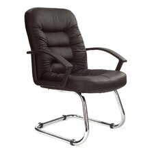 Medium Back Visitor Chair in Black