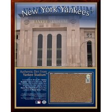 2009 Yankee Stadium Dirt Graphic Art Plaque
