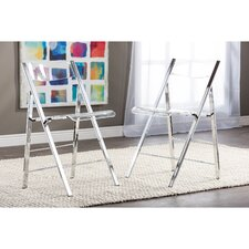 Baxton Studio Macbeth Acrylic Foldable Side Chair (Set of 2) by Wholesale Interiors
