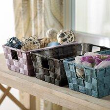 Wayfair Basics Woven-Strap Storage Basket