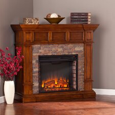 Sherrie Simulated Stone Convertible Electric Fireplace