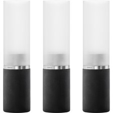 Faro Glass Candlestick (Set of 3)