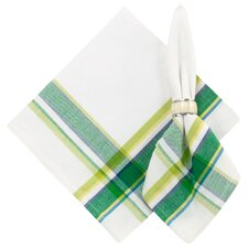 Greenhouse 100% Cotton Plaid Napkins (Set of 6)