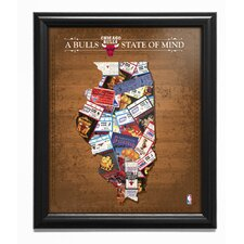 'Chicago Bull State of Mind' Framed Memorabilia