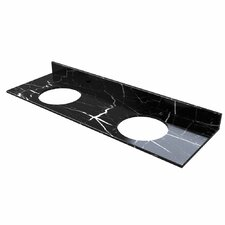 61 Double Bathroom Vanity Top by D'Vontz